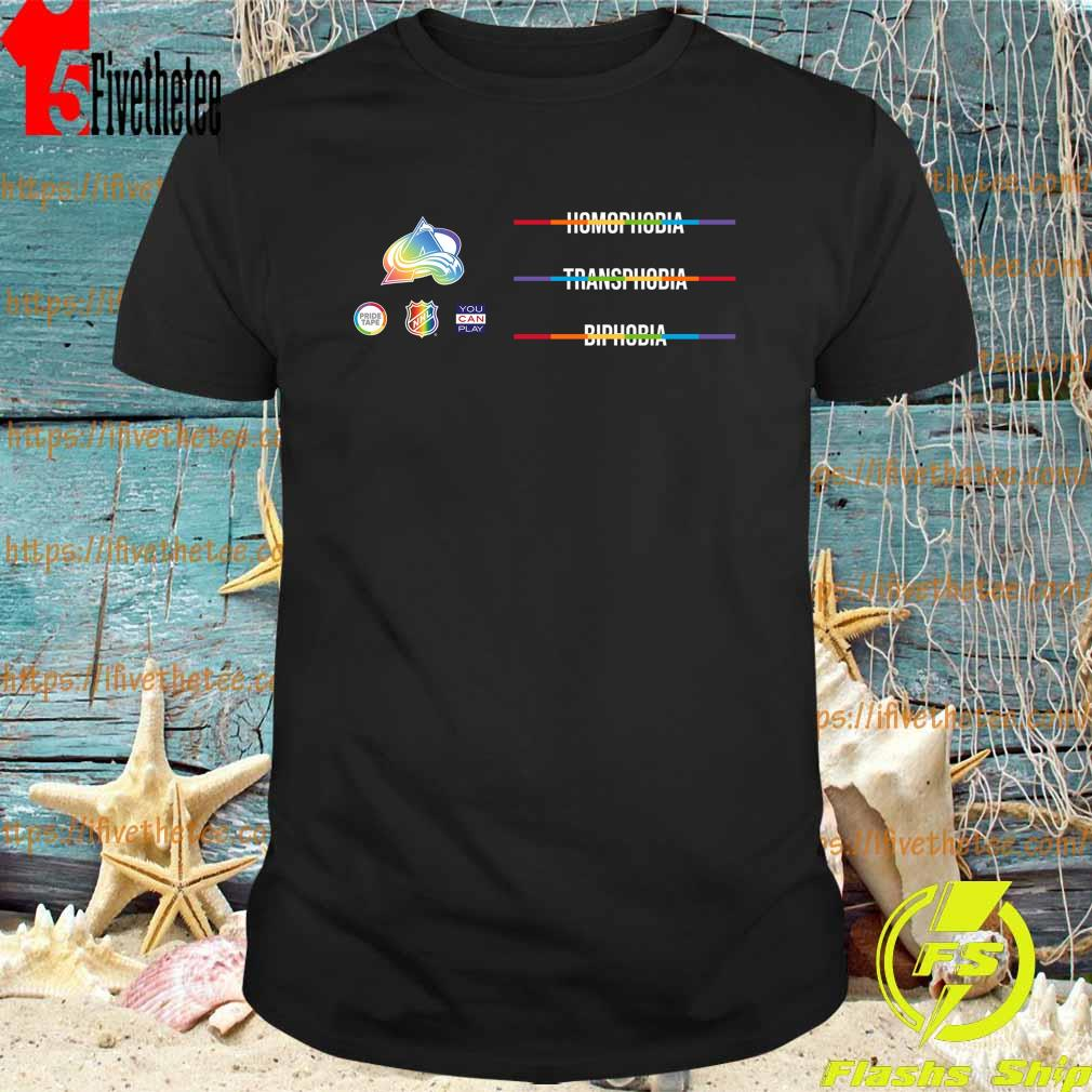 LGBTQ Against Homophobia Transphobia and Biphobia is observed around the world on May 17- We join the NHL shirt