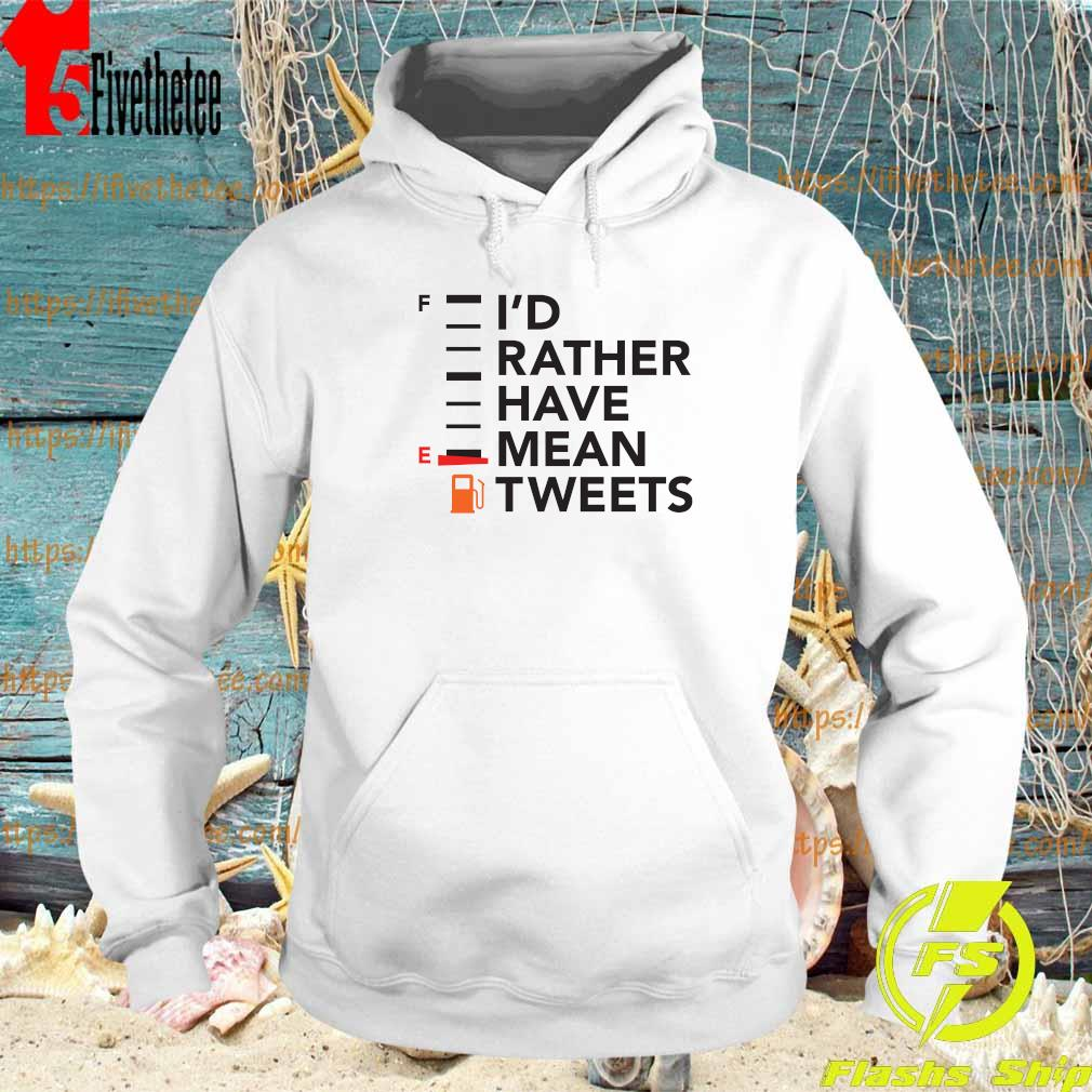 Official I'd Rather Have a Mean Tweet s Hoodie