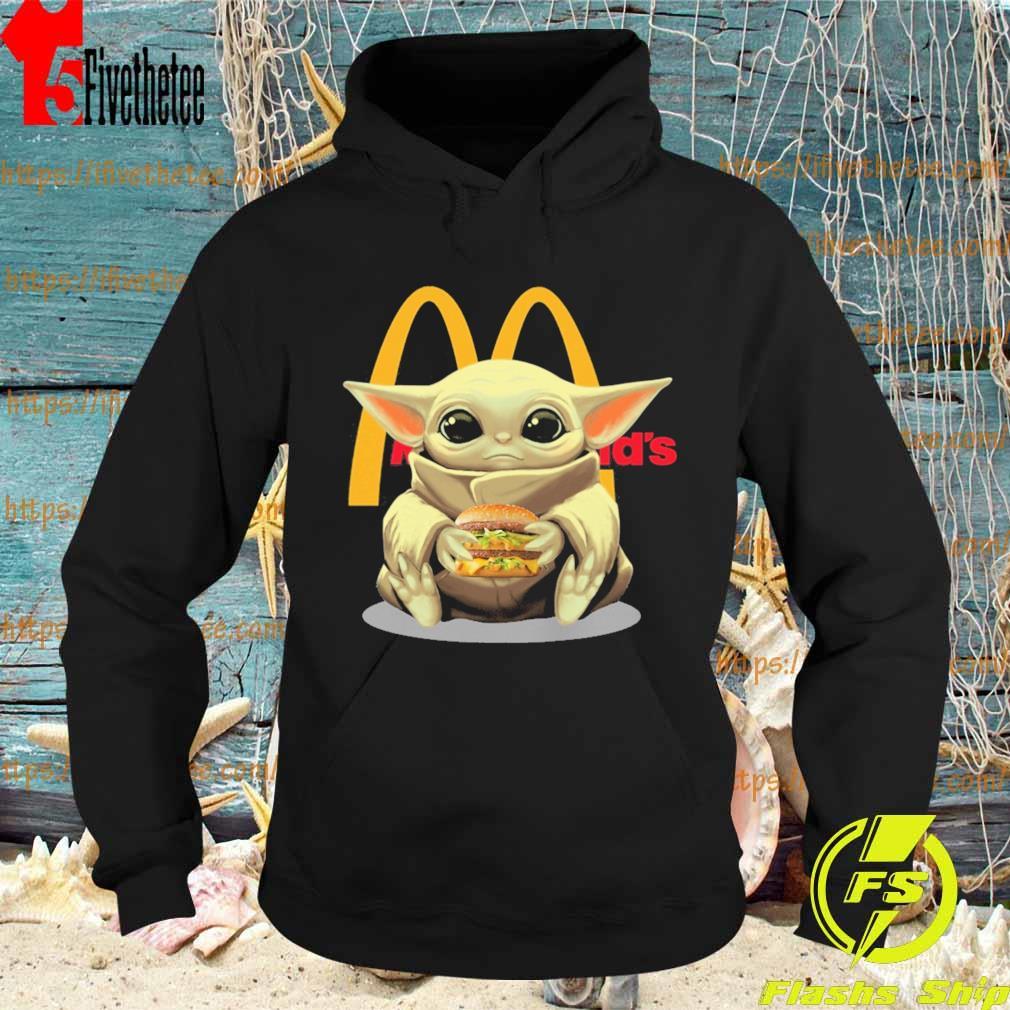 Baby Yoda hug McDonald's s Hoodie
