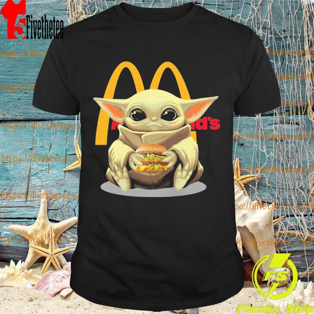 Baby Yoda hug McDonald's shirt