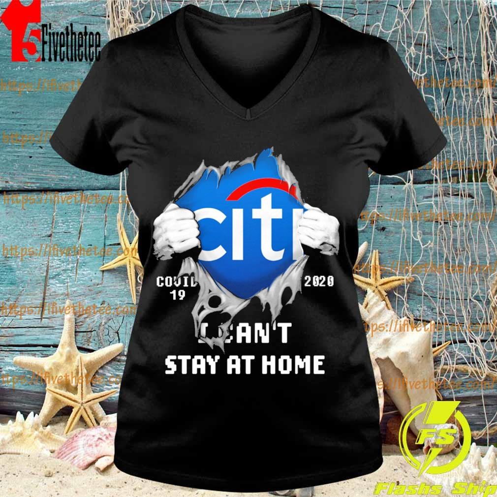 Blood inside me Citibank covid-19 2020 I can't stay at home s V-neck
