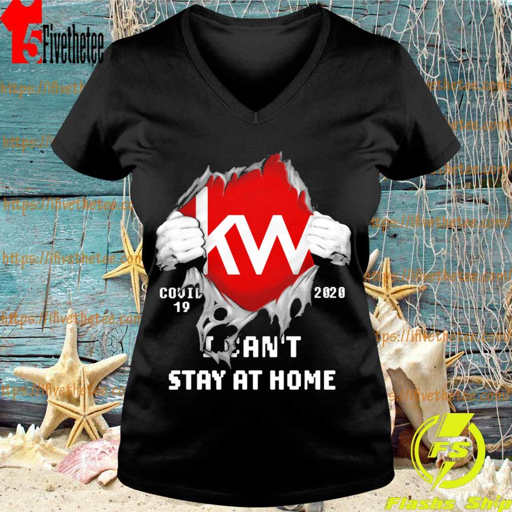 Blood inside me Kw covid-19 2020 I can't stay at home s V-neck