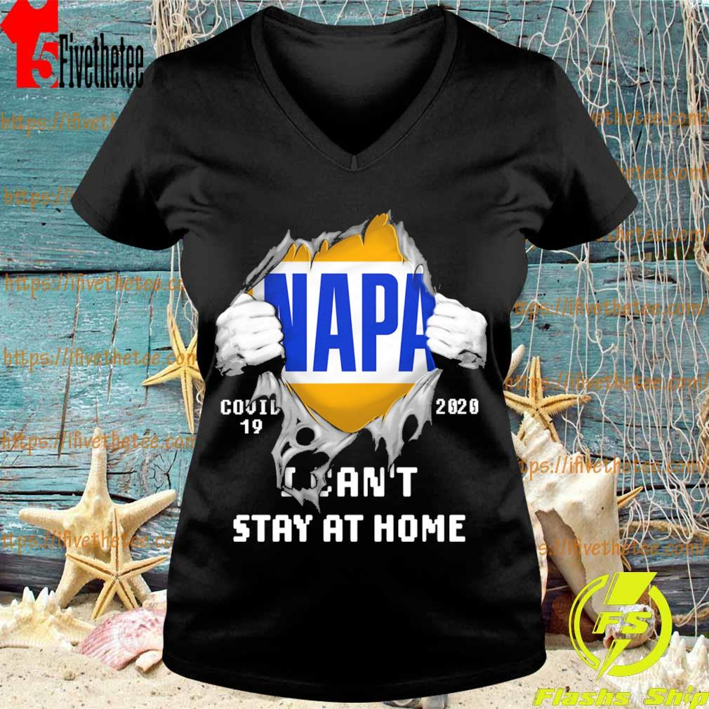 Blood inside me NAPA covid-19 2020 I can't stay at home s V-neck