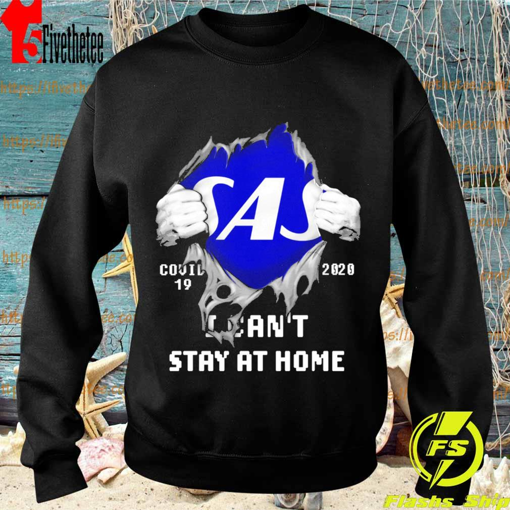 Blood inside me Scandinavian Airlines covid-19 2020 I can't stay at home s Sweatshirt