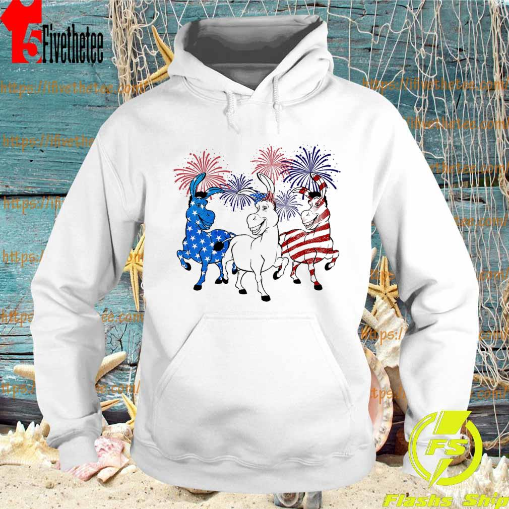 Donkey 2 flag happy American independence Day s Hoodie