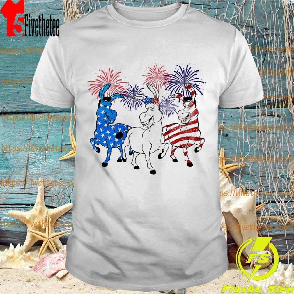 Donkey 2 flag happy American independence Day shirt