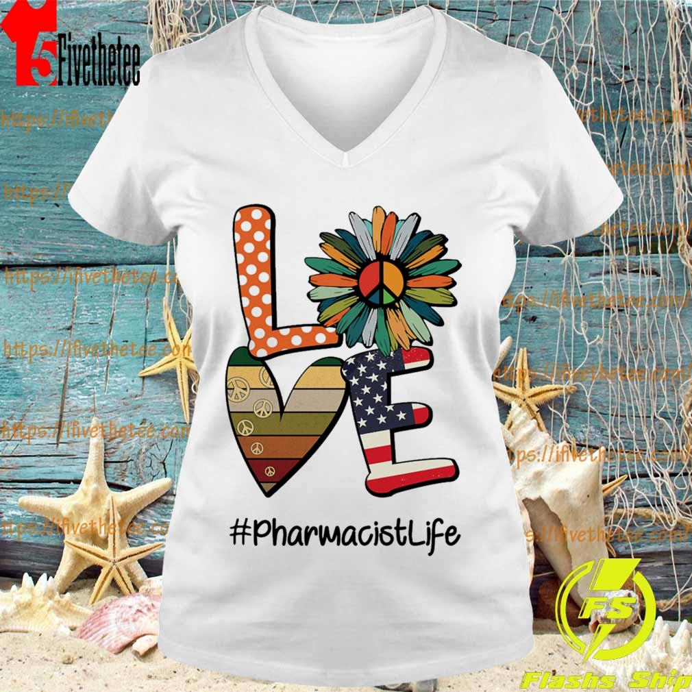 Hippie Sunflower love american #Pharmacistlife s V-neck