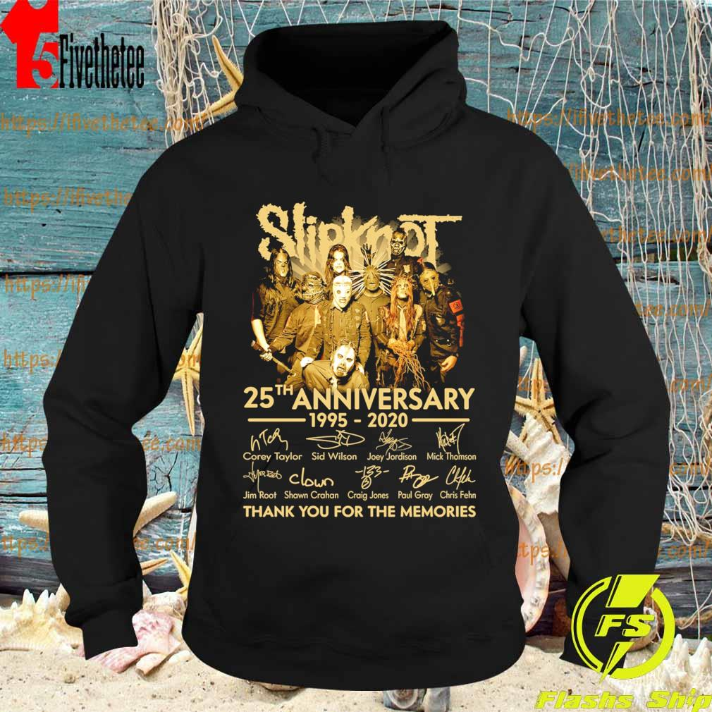 Slipknot 25th anniversary 1995 2020 thank you for the memories signatures s Hoodie