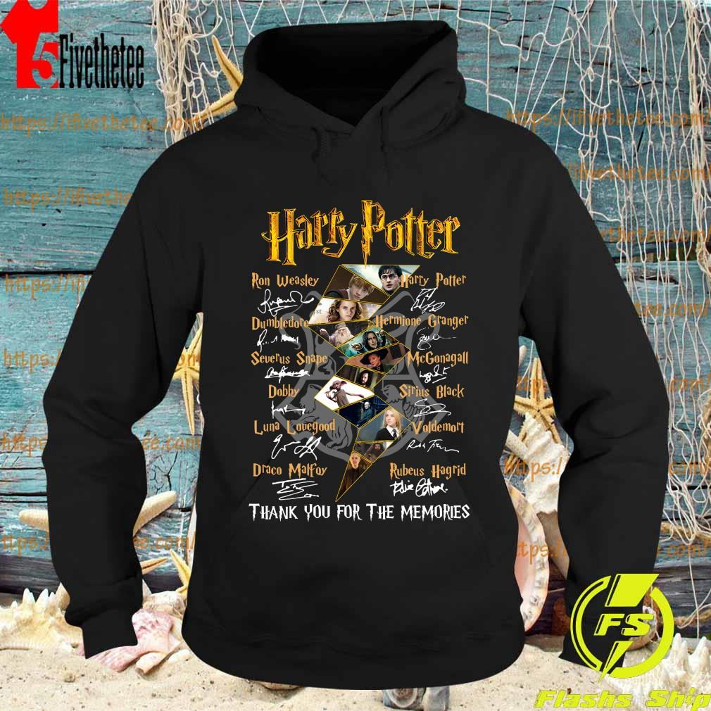 Harry Potter logo characters thank You for the memories signatures s Hoodie