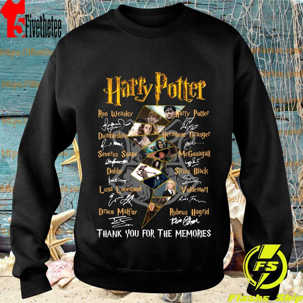 Harry Potter logo characters thank You for the memories signatures s Sweatshirt