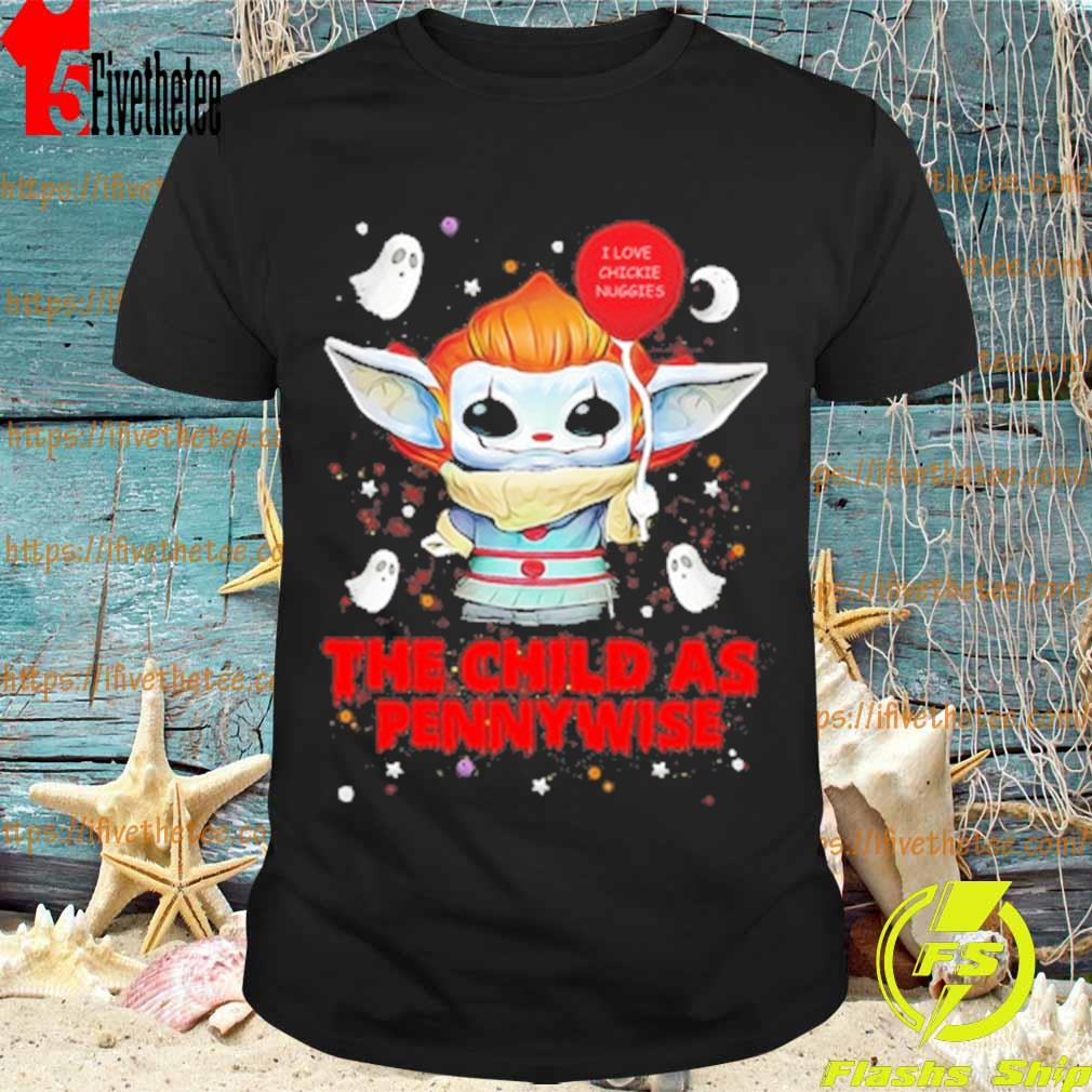 Baby Yoda Balloon The Child as Pennywise Halloween shirt
