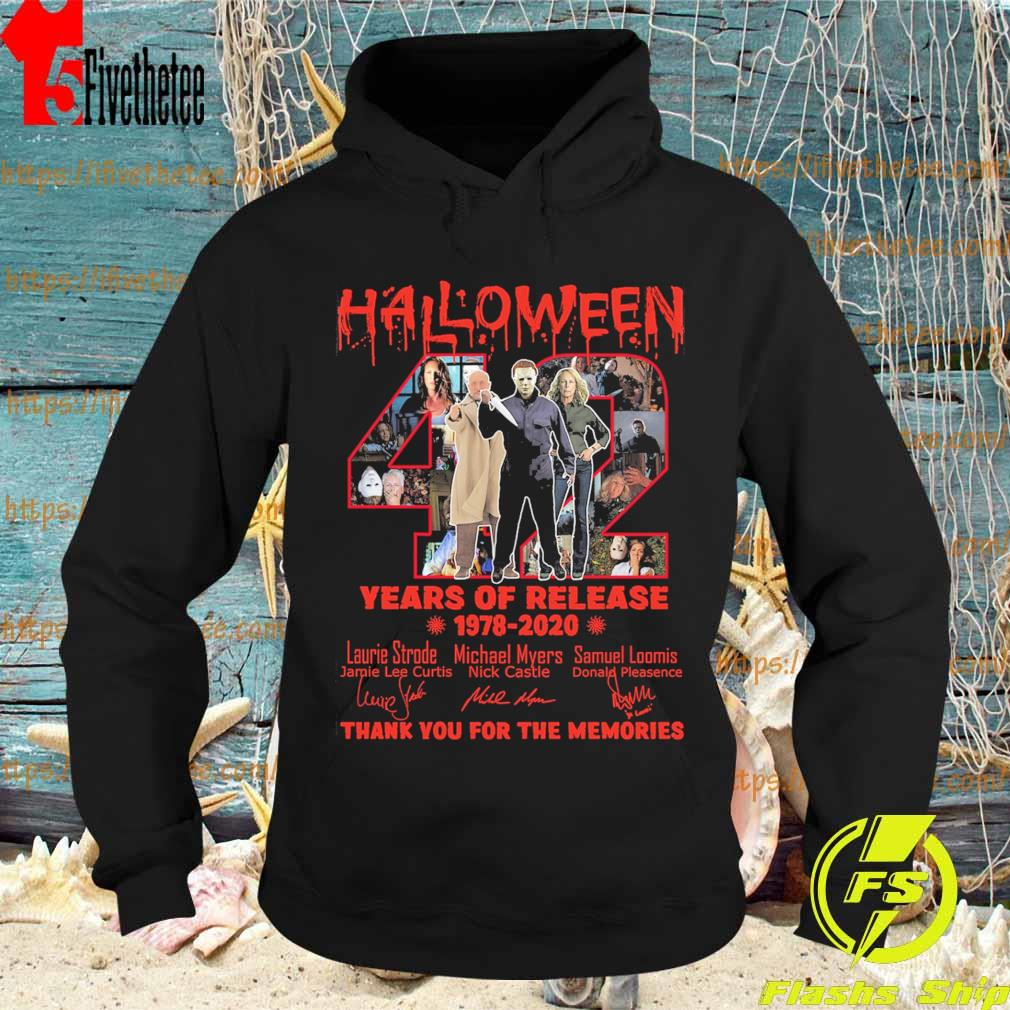 Halloween 42 years of release 1978-2020 thank you for the memories signatures s Hoodie