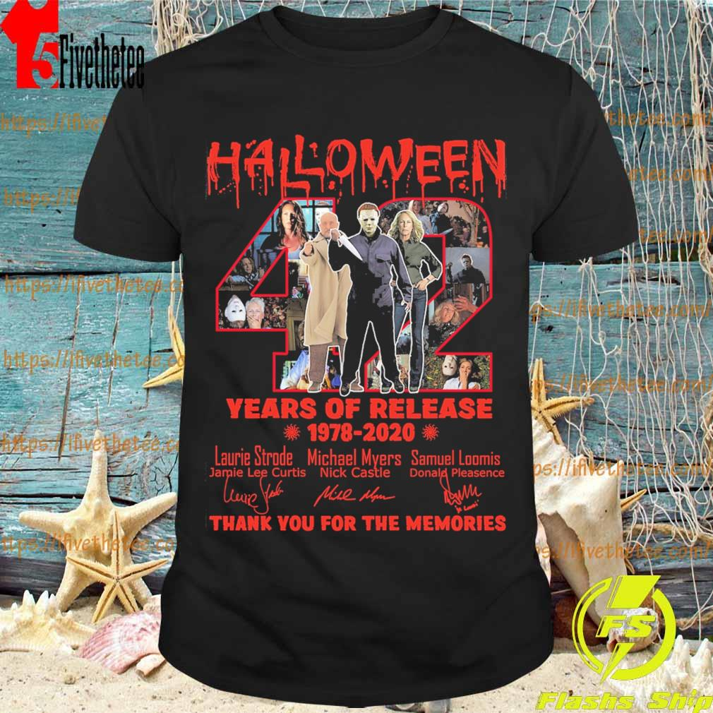 Halloween 42 years of release 1978-2020 thank you for the memories signatures shirt