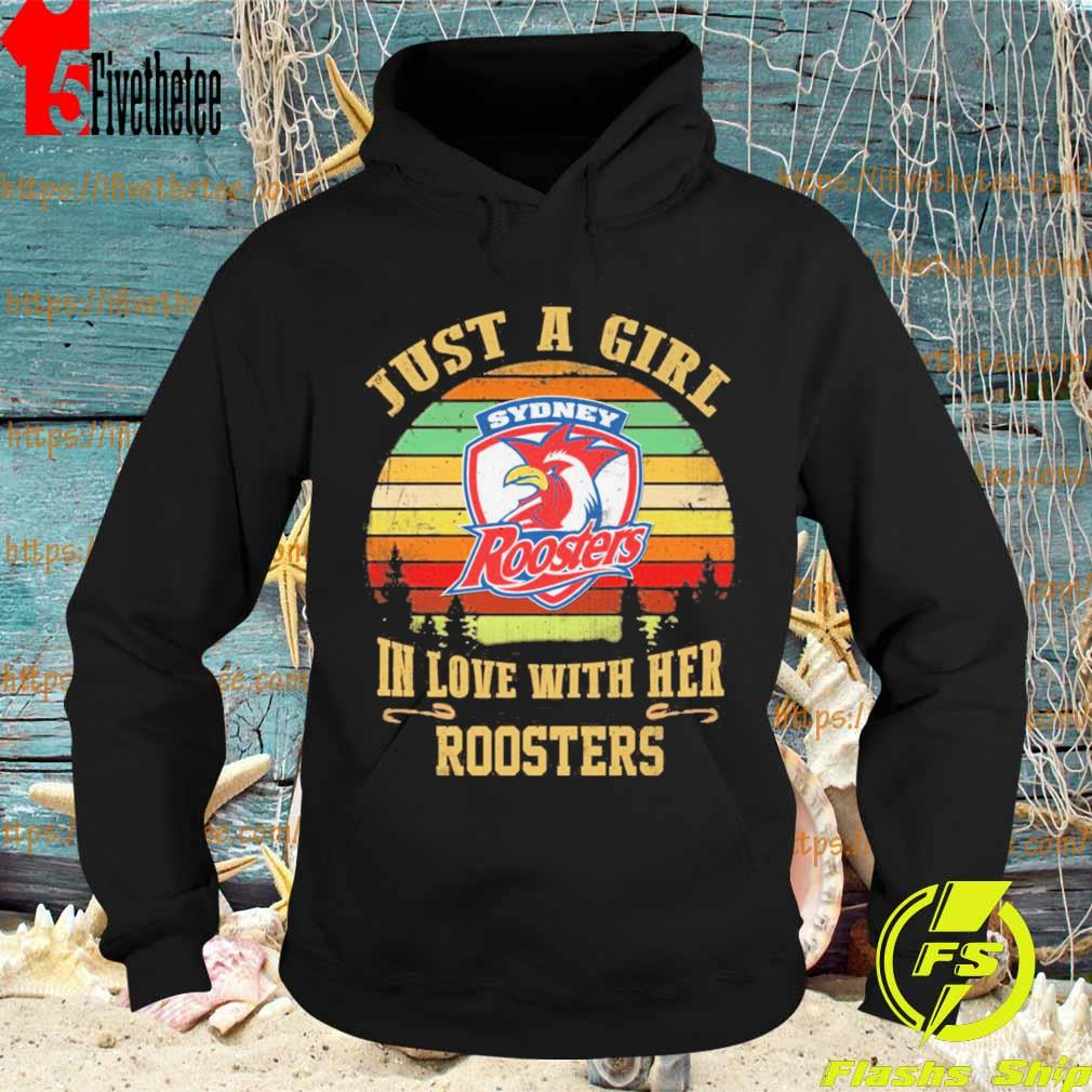 Just a Girl in love with her Roosters vintage s Hoodie