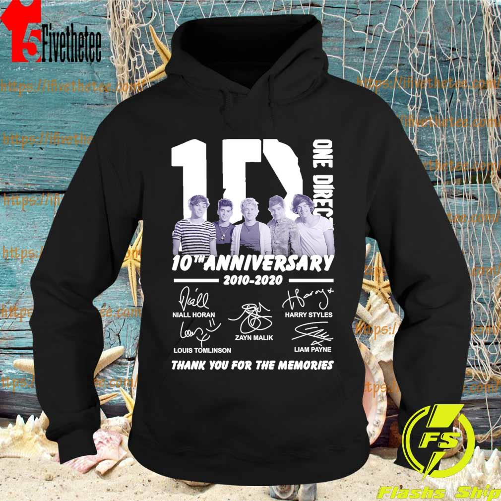 One Direction 10th Anniversary 2010-2020 thank you for the memories signatures s Hoodie