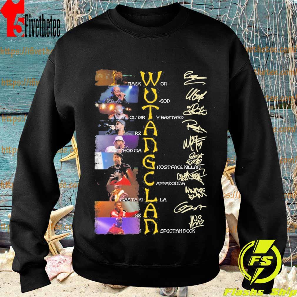 Wu Tang Clan character signature s Sweatshirt