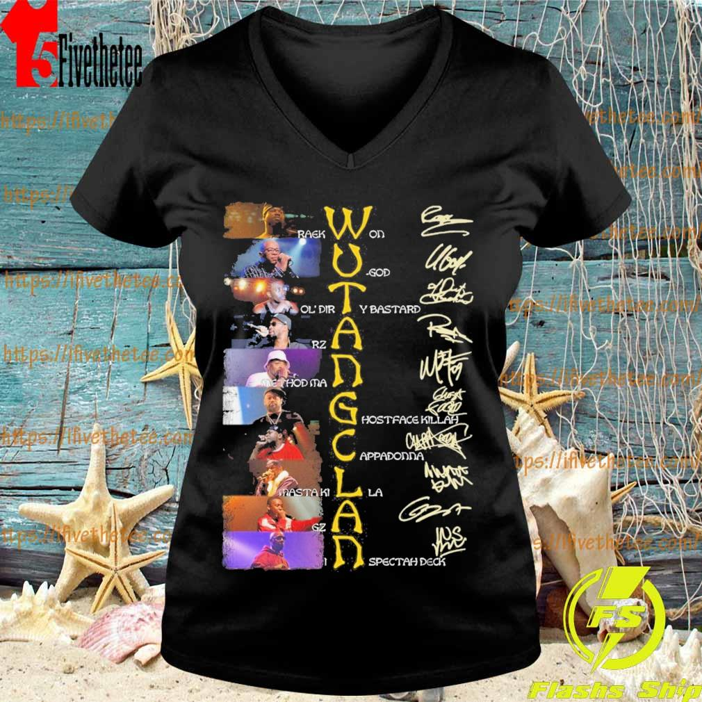 Wu Tang Clan character signature s V-neck