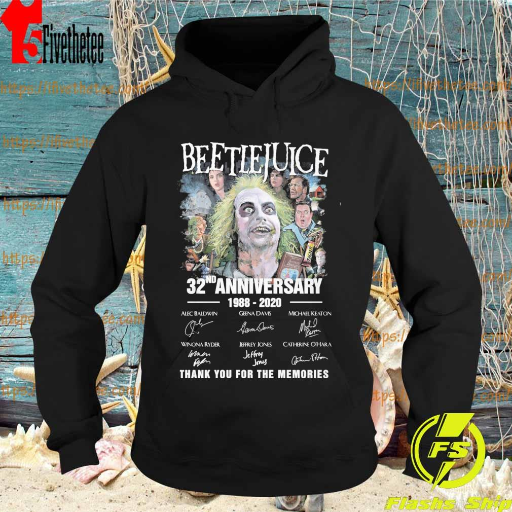 Beetlejuice 32nd anniversary 1988 2020 thank you for the memories signatures s Hoodie