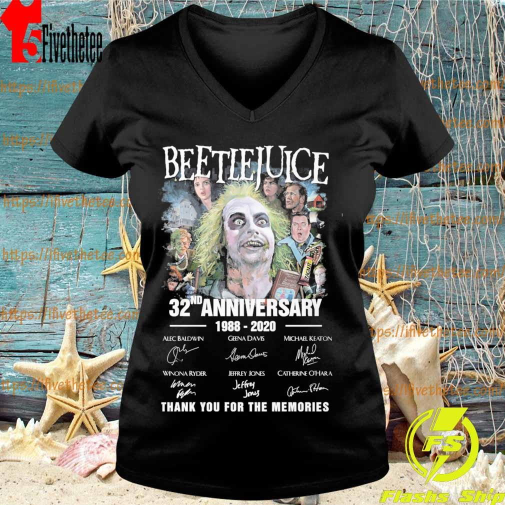 Beetlejuice 32nd anniversary 1988 2020 thank you for the memories signatures s V-neck
