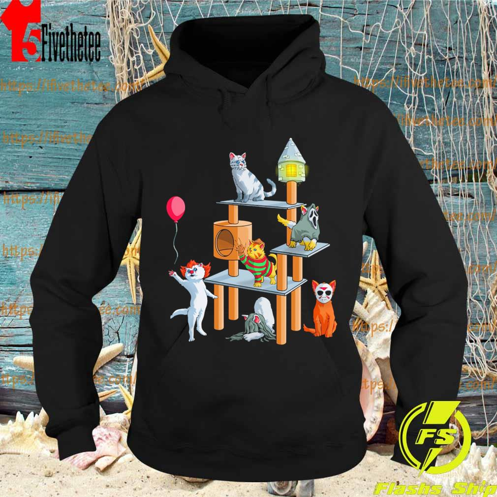 Funny Cat Horror movie character playground happy Halloween s Hoodie