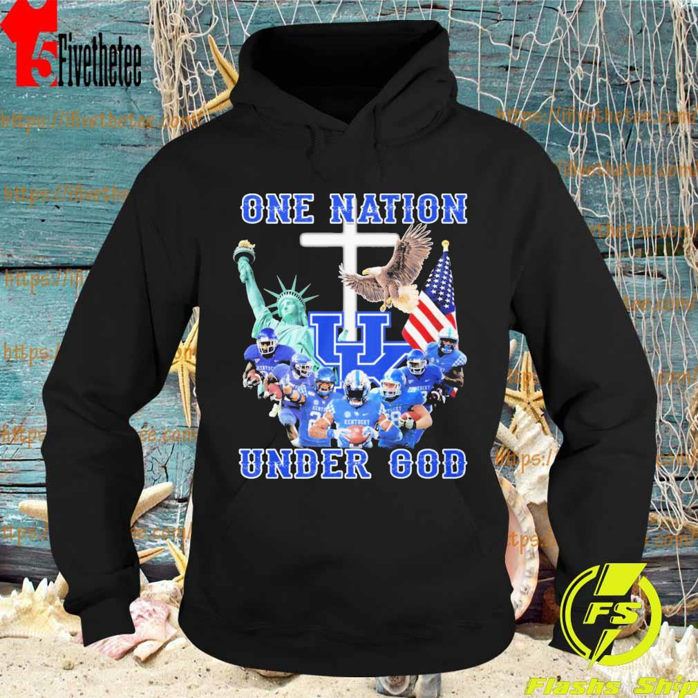 Kentucky Wildcats One Nation under god American flag s Hoodie