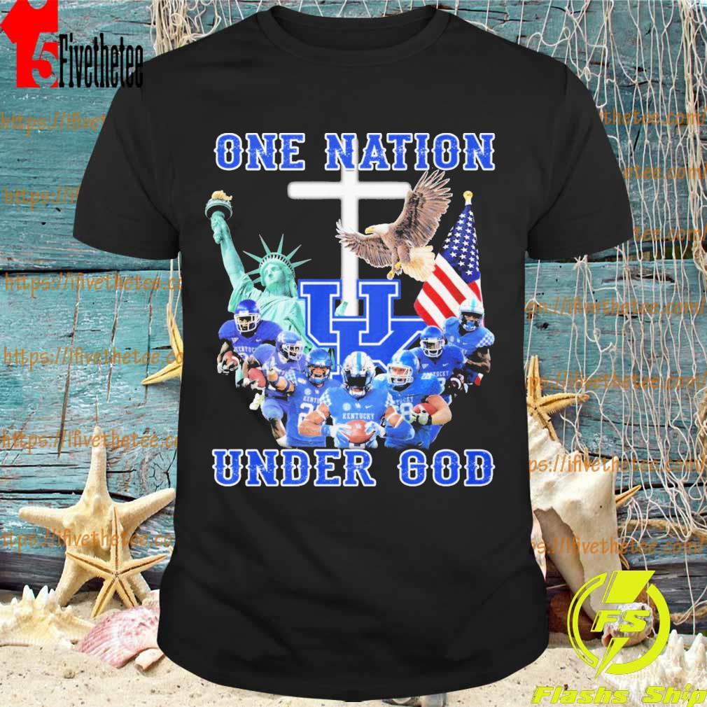 Kentucky Wildcats One Nation under god American flag shirt