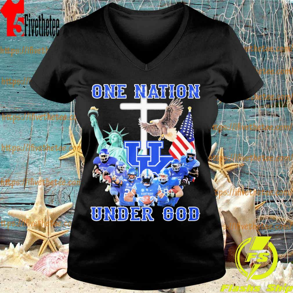 Kentucky Wildcats One Nation under god American flag s V-neck