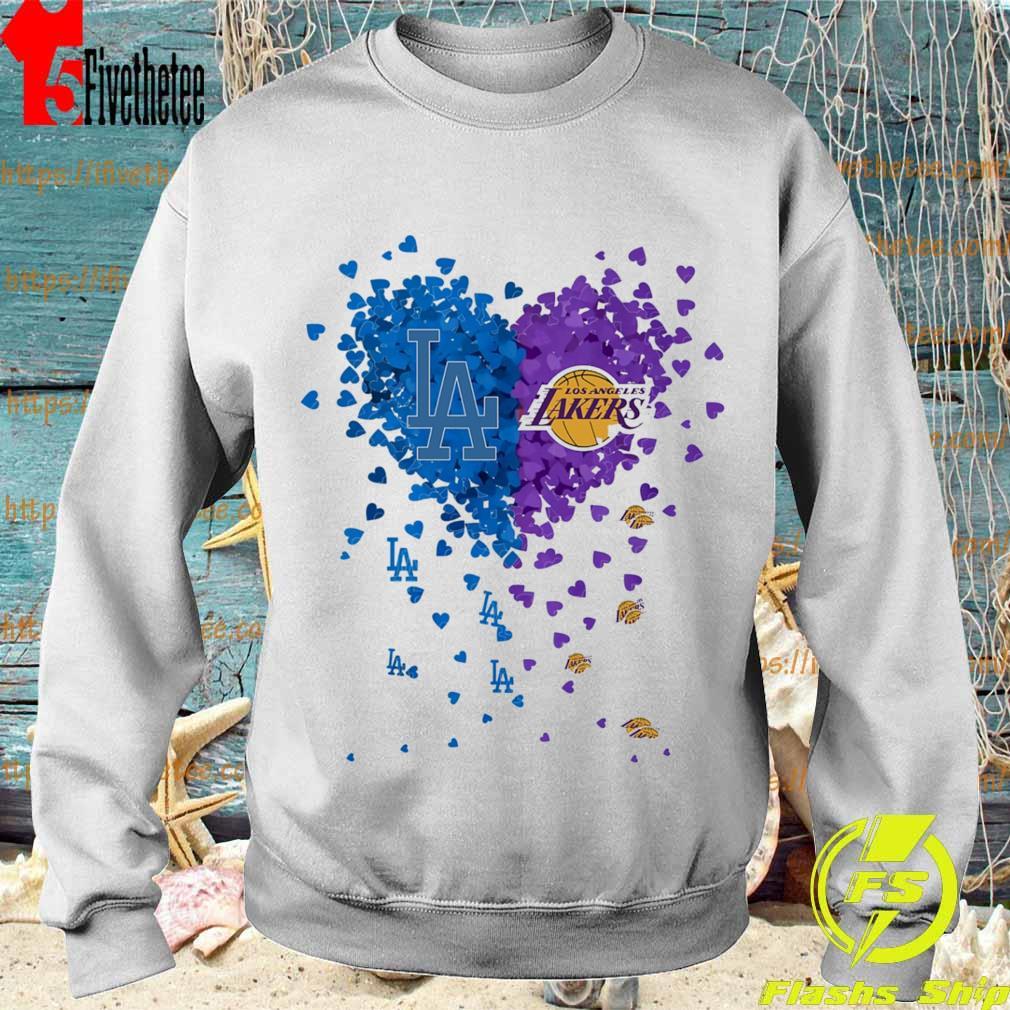 Official Los Angeles Dodgers vs Los Angeles Lakers heart s Sweatshirt