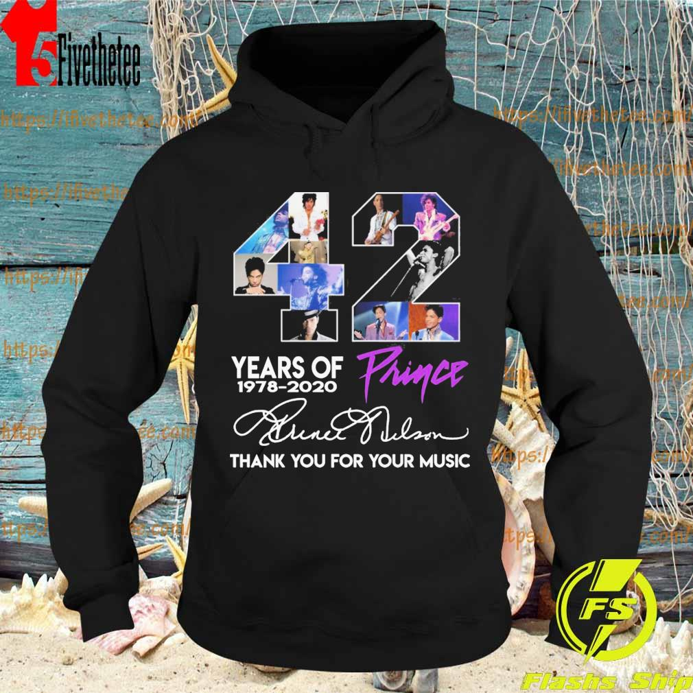 Prince 42 years of 1978 2020 thank you for the memories signatures s Hoodie