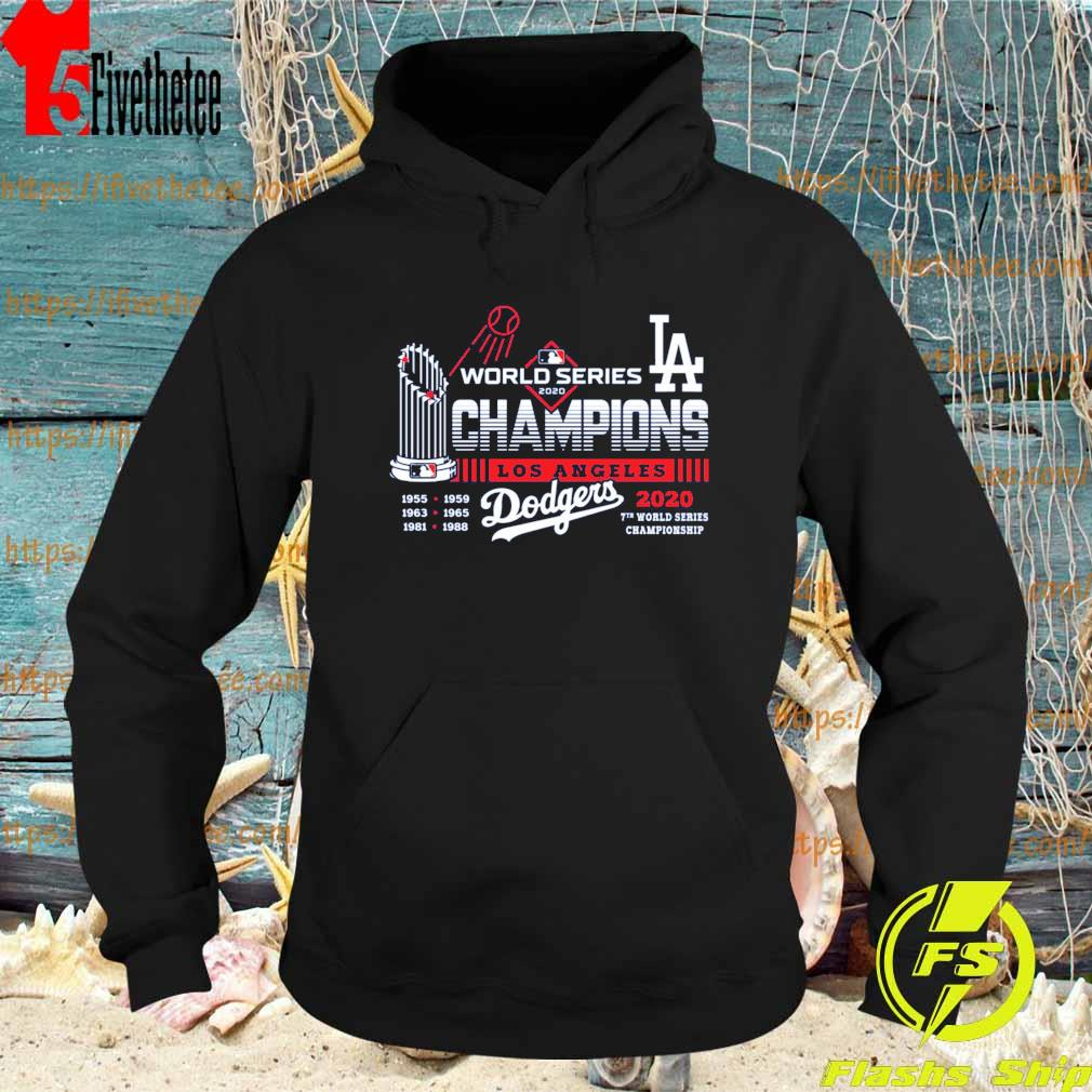 Los Angeles Dodgers World Series Champions 2020 7th world series Championship s Hoodie