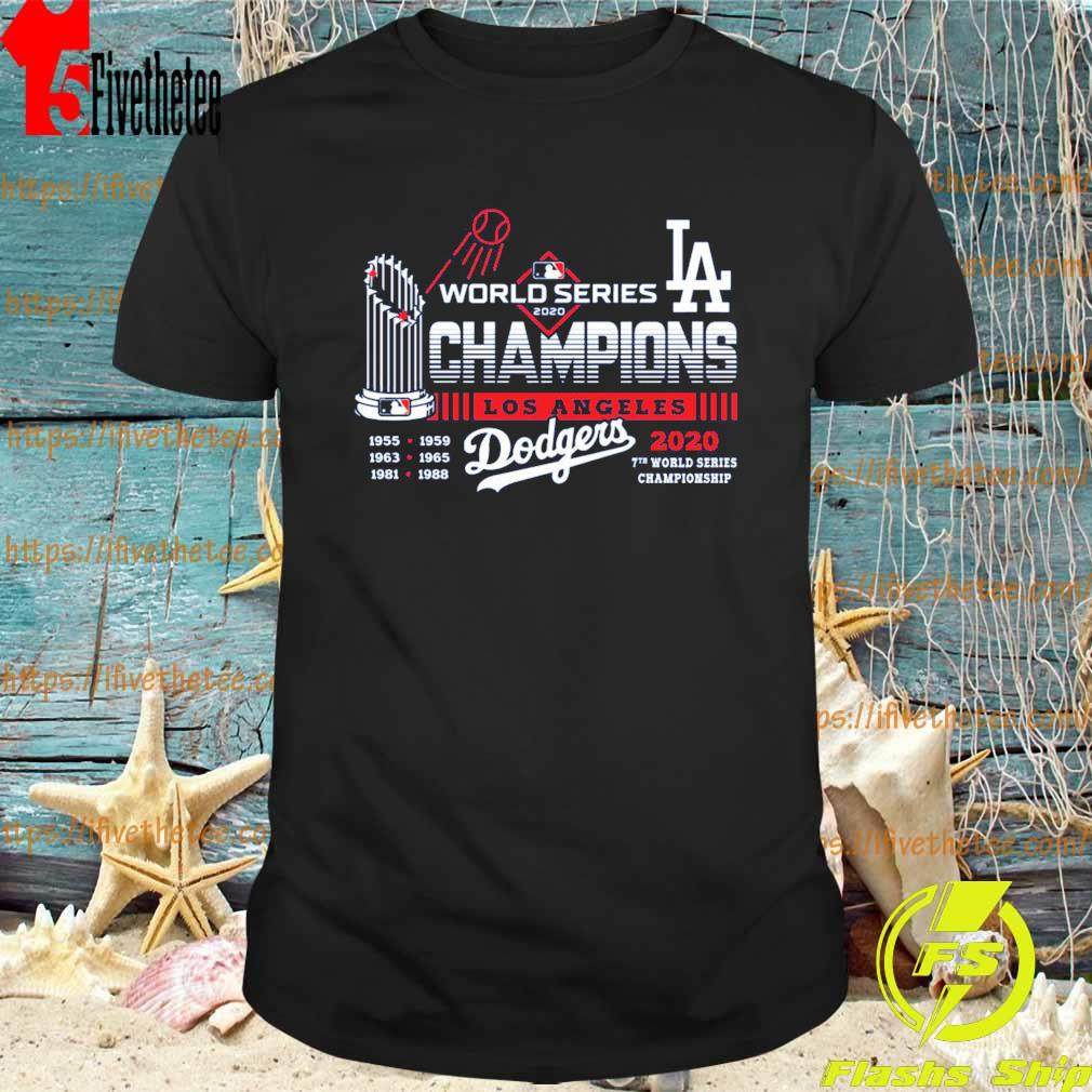 Los Angeles Dodgers World Series Champions 2020 7th world series Championship shirt