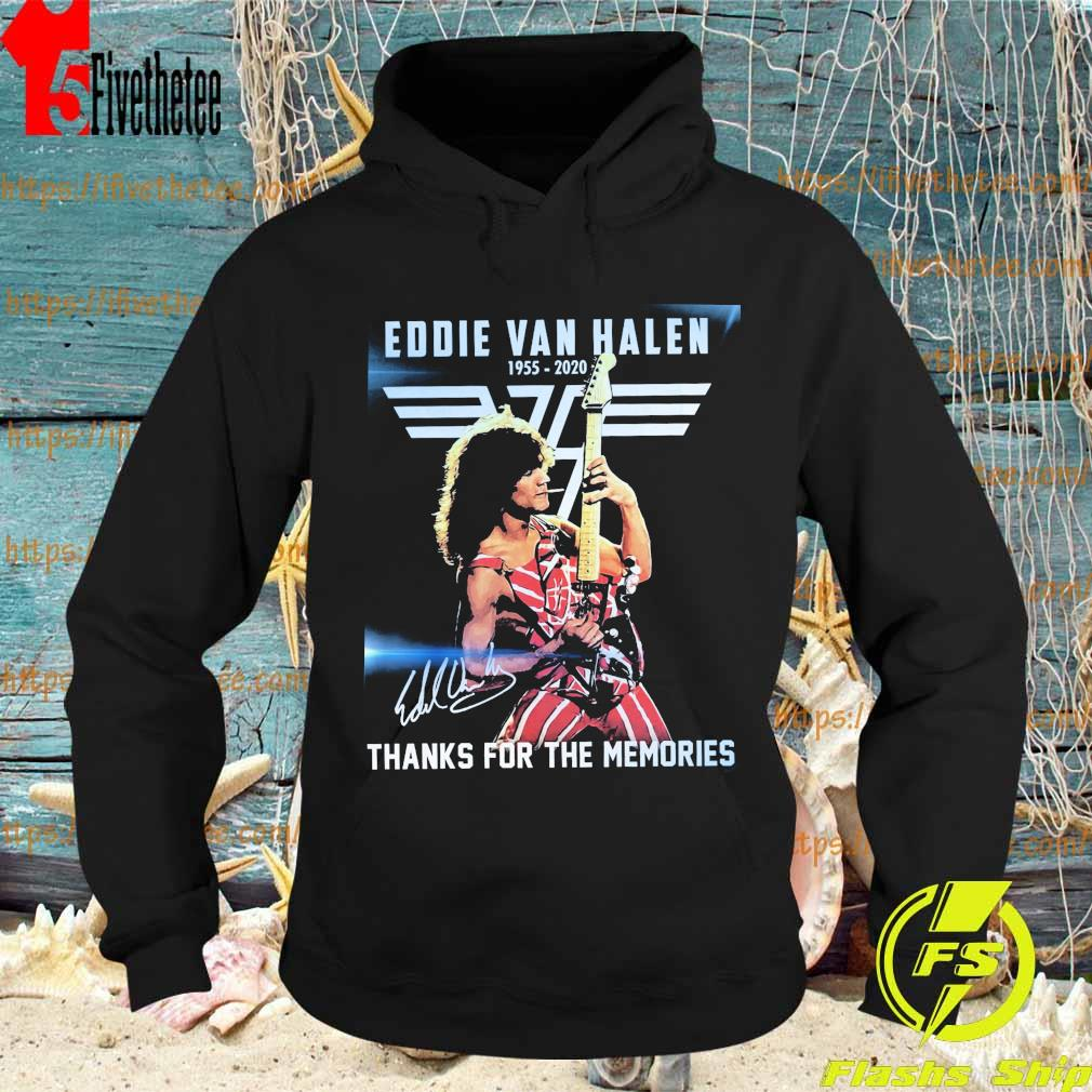 Official Eddie Van Halen 1955 2020 thanks for the memories signature s Hoodie