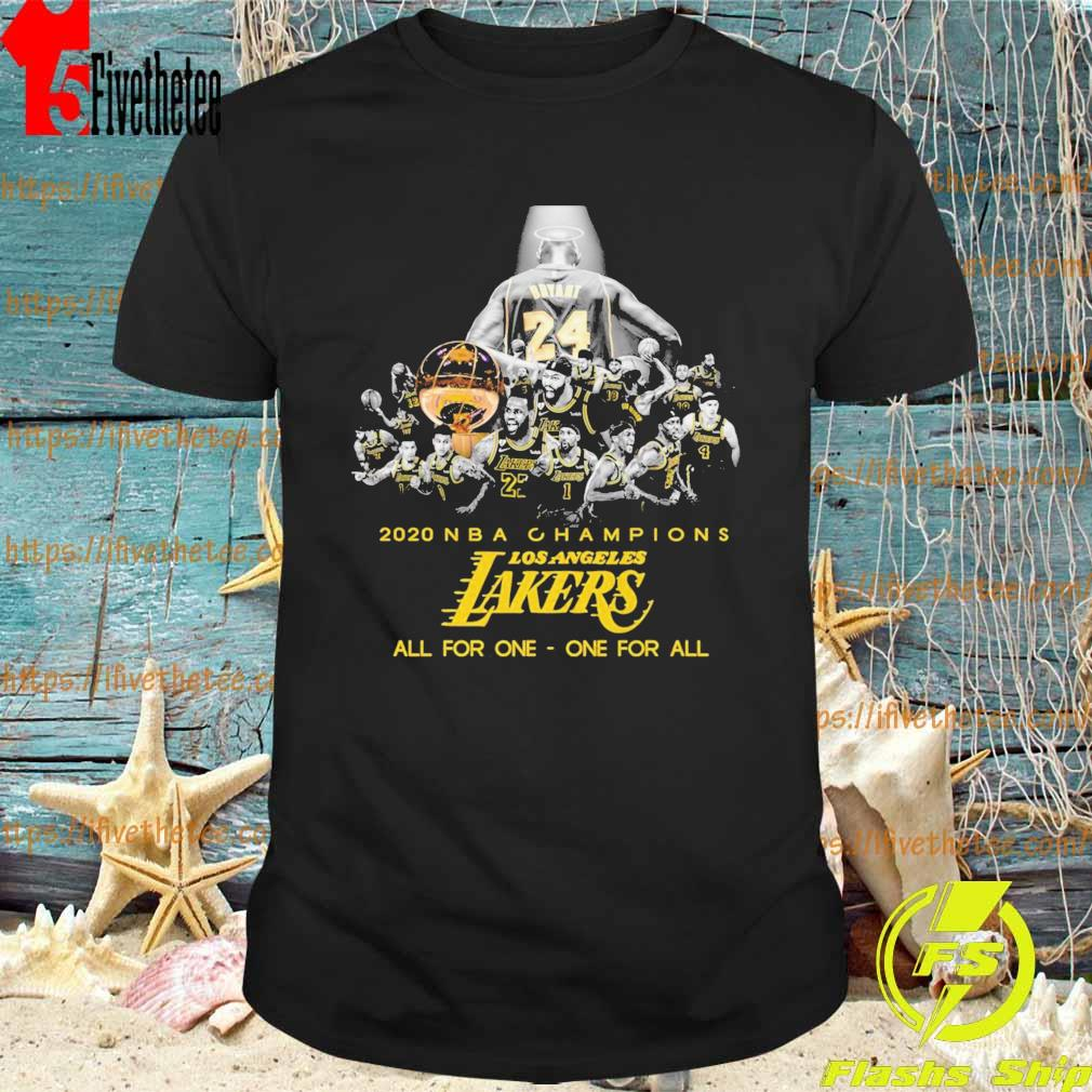 Official Kobe Bryant 2020 Nba Champions Los Angeles Lakers all for one one for all shirt