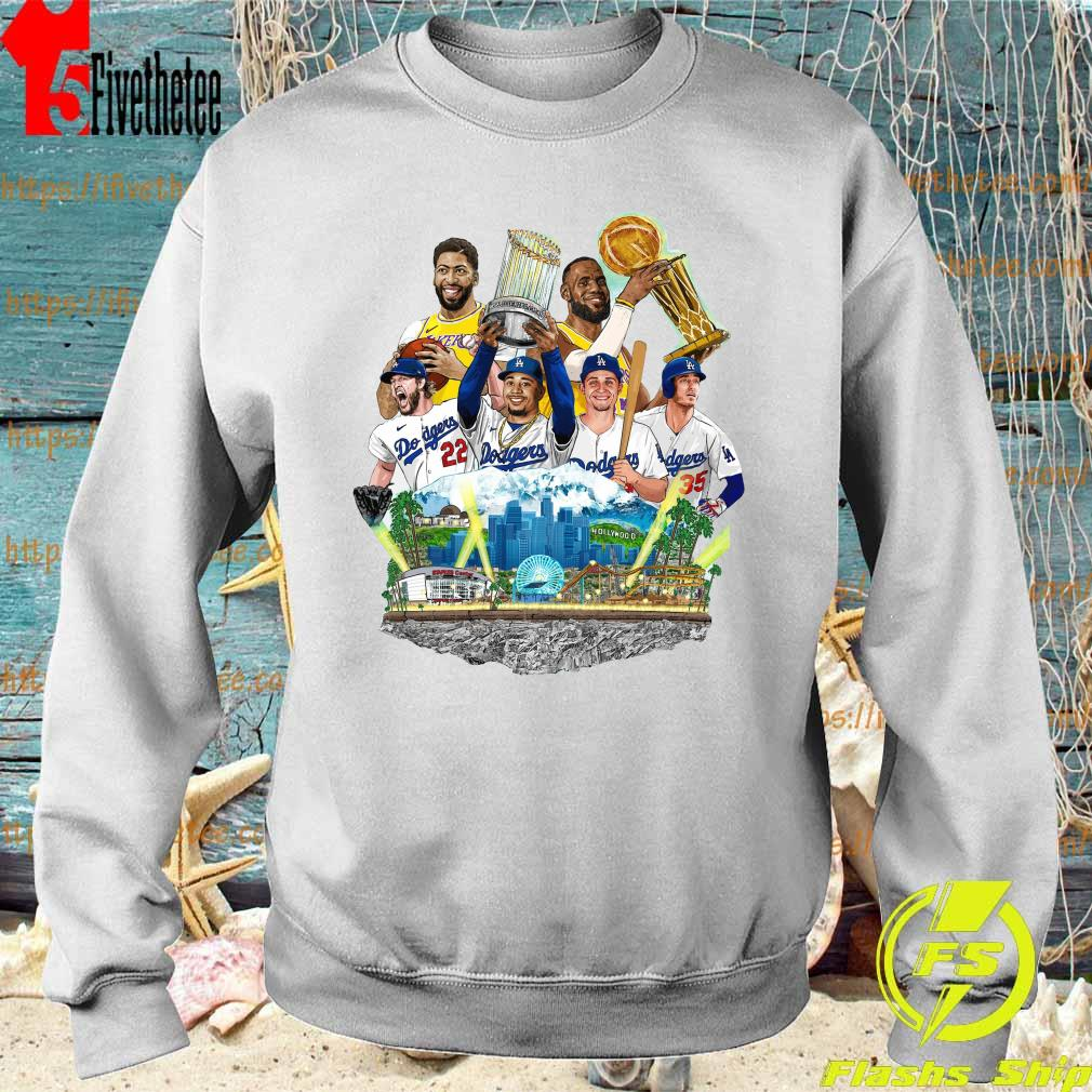 Official Los Angeles Dodgers And Los Angeles Lakers Champions 2020 Player Shirt Sweatshirt