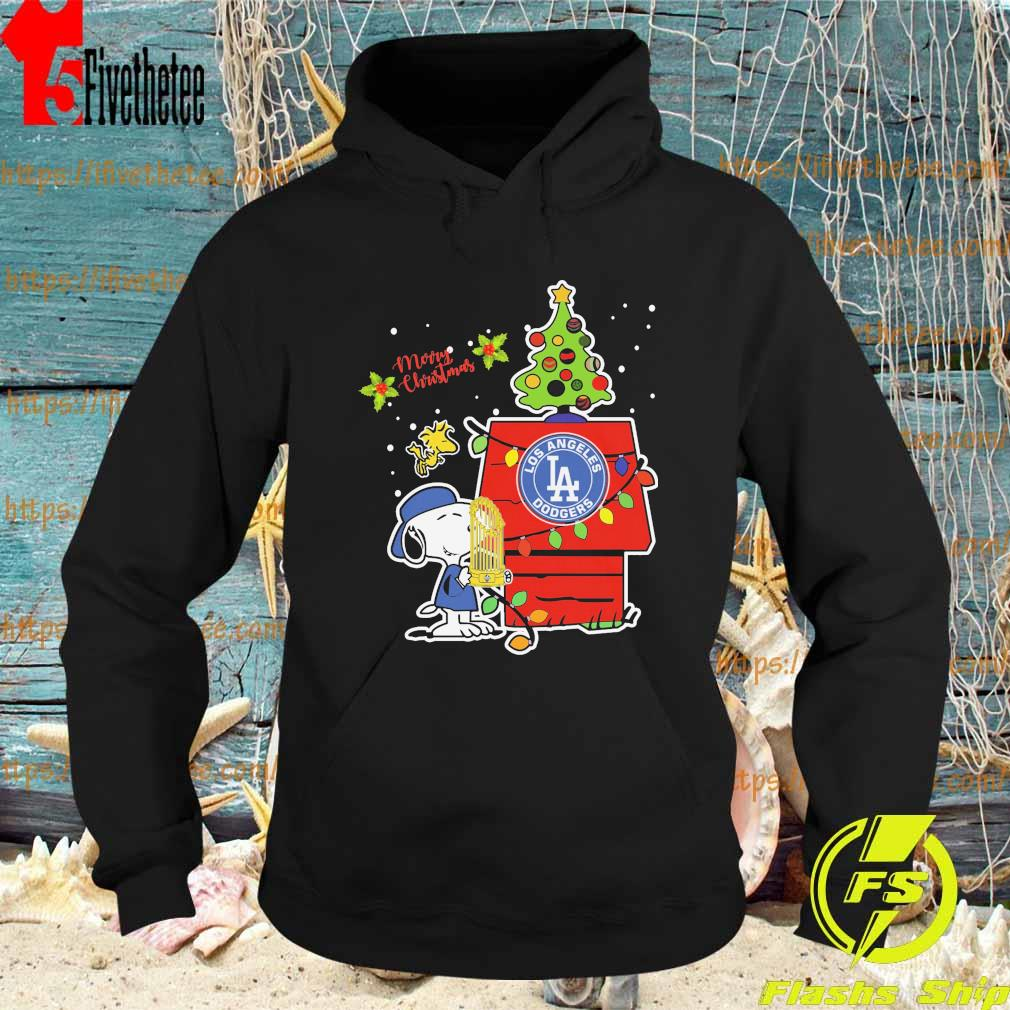 Snoopy Los Angeles Dodgers World Series Champions 2020 Christmas Baseball s Hoodie