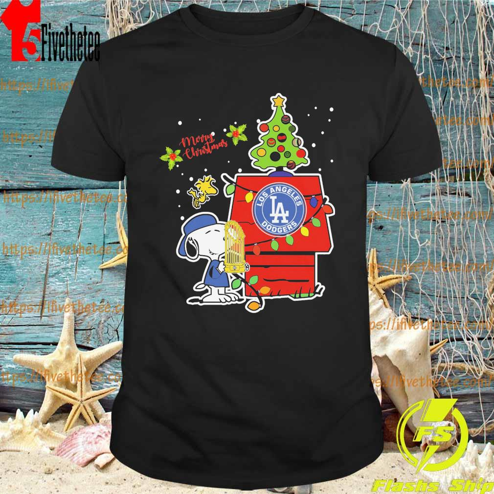 Snoopy Los Angeles Dodgers World Series Champions 2020 Christmas Baseball shirt