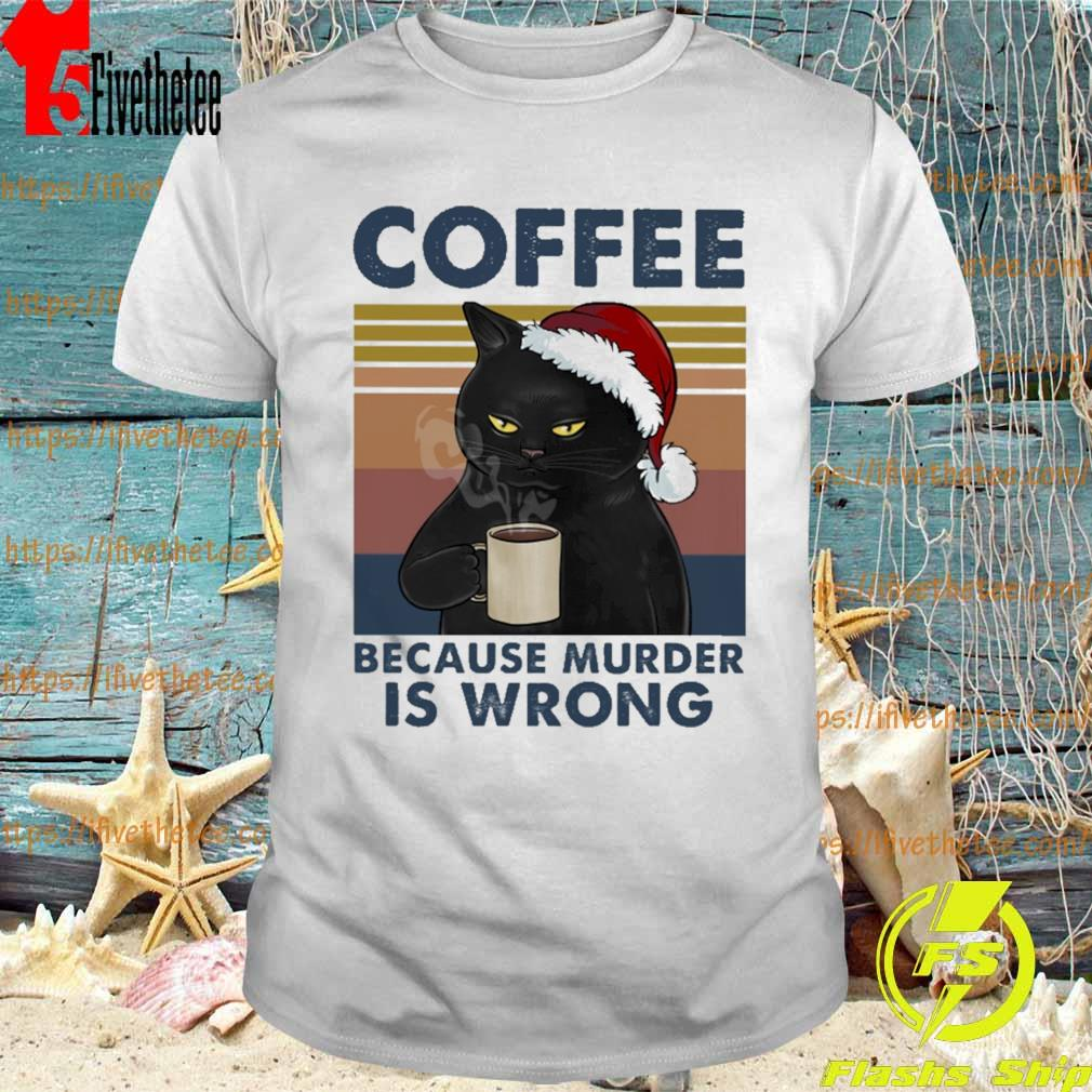 Because Murder Is Wrong Black Cat Drink Coffee Mug
