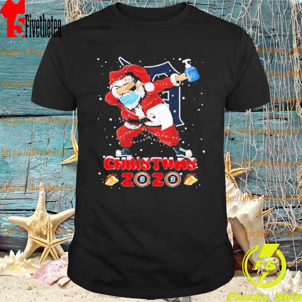 Detroit Tigers Santa Claus Dabbing Christmas 2020 MLB shirt