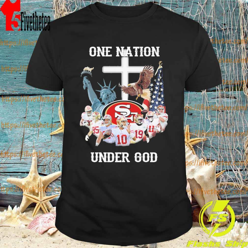 San Francisco 49ers one Nation under god cross shirt