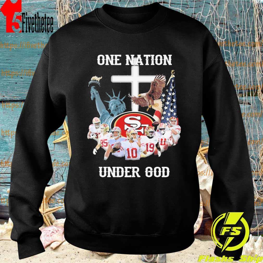 San Francisco 49ers one Nation under god cross s Sweatshirt