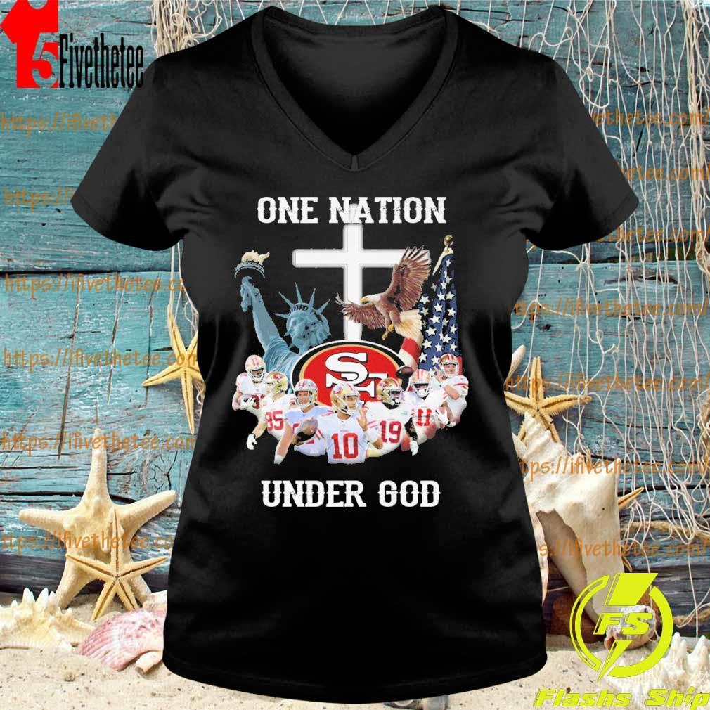 San Francisco 49ers one Nation under god cross s V-neck