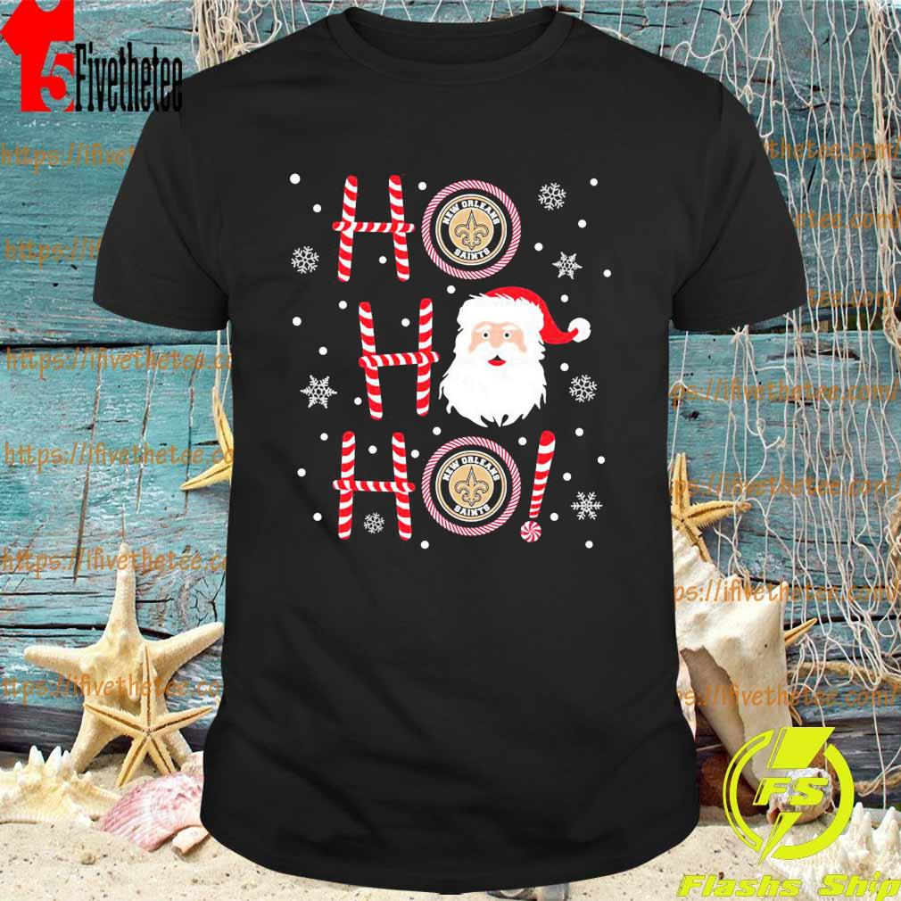 Santa Claus Ho Ho Ho New Orleans Saints Christmas shirt