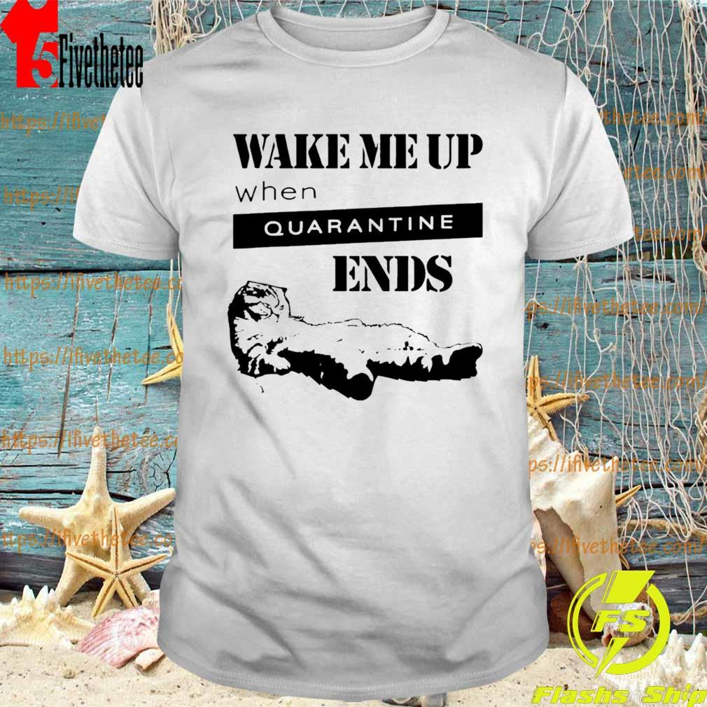 Tired Cat Says Wake Me Up When Quarantine Ends Shirt
